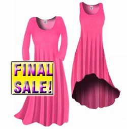 SOLD OUT! FINAL SALE! Pink & White Dots Slinky Plus Size & Supersize Standard Dress 1x