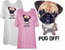 SOLD OUT! SALE! Just Reduced! Pug Off! Plus Size & Supersize Dog T-Shirts 6xl Royal