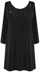 SALE! Customizable Starry Night Plus Size TOPS & DRESSES Sparkly Silver Rhinestuds <br>Lg XL 0x 1x 2x 3x 4x 5x 6x 7x 8x 9x