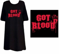 CLEARANCE! Got Blood Plus Size Supersize T-Shirts XL