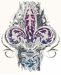 SALE! Gothic Fleur De Lis Plus Size & Supersize T-Shirts S M L XL 2x 3x 4x 5x 6x 7x 8x (All Colors)