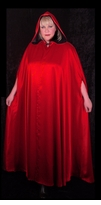 SALE! Gothic Hooded Reversible Plus Size Cape - Supersize Costume Cape 1x 2x 3x 4x 5x 6x 7x 8x 9x