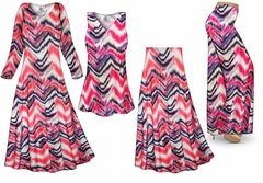 Groovy Zig Zags Slinky Print - Plus Size Slinky Dresses Shirts Jackets Pants Palazzo�s & Skirts - Sizes Lg to 9x