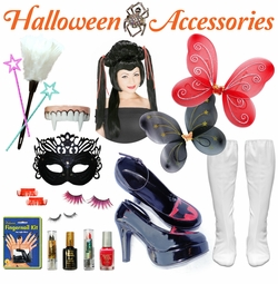 ACCESSORIES!  Halloween Costume Accessories - Brooms - Makeup - Fangs - Etc!