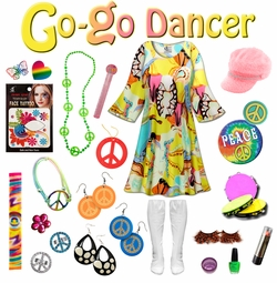 SALE! Rhapsody Print Plus Size Go-go Dancer Costume Kit Lg XL 0x 1x 2x 3x 4x 5x 6x 7x 8x 9x