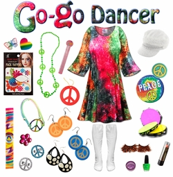 SALE! Crush Velvet Tie Dye Print Plus Size Go-go Dancer Costume Kit Lg XL 0x 1x 2x 3x 4x 5x 6x 7x 8x 9x