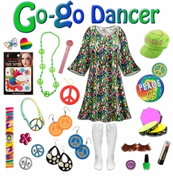 SALE! Enchanted Print Plus Size Go-go Dancer Costume Kit Lg XL 0x 1x 2x 3x 4x 5x 6x 7x 8x 9x
