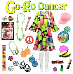 SALE! Cool Cat Print Plus Size Go-go Dancer Costume Kit Lg XL 0x 1x 2x 3x 4x 5x 6x 7x 8x 9x
