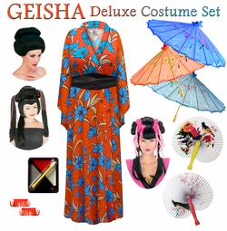 SALE! Fire & Ice Floral Print Geisha Costume Plus Size & Supersize 0x 1x 2x 3x 4x 5x 6x 7x 8x 9x