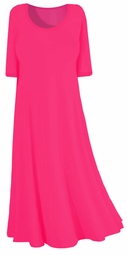 Hot! Hot! Fuchsia Pink Slinky Plus Size & Supersize Princess Cut Dress! 0x 1x 2x 3x 4x 5x 6x 7x 8x