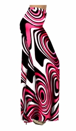 SOLD OUT!!!!!!!!!!!!!!!!!!!!!!!!!!!!!!!!!!!Hot Hot Hot Pink & Black Geometric Print Special Order Customizable Plus Size & Supersize Pants, Capri's, Palazzos or Skirts! Lg to 9x