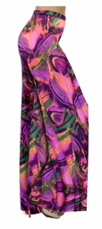 SOLD OUT! Customizable Hot Pink, Orange and Purple Wild Print Slinky  Special Order Plus Size & Supersize Pants, Capri's, Palazzos or Skirts! Lg to 9x