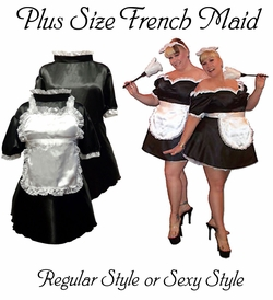 HOT! Black & White French Maid Costume Sexy Plus Size & Supersize Halloween Costume! 1x 2x 3x 5x 7x