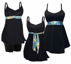 SALE! Hot! Plus Size Swim Tank with Shelf Bra & Tie! Optional Plus Size Swim Shorts! 0x 1x 2x 3x 4x 5x 6x 7x 8x