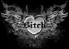 Hot! Tattoo Prints!  Bitch with Wings Plus Size & Supersize T-Shirts S M L XL 2x 3x 4x 5x 6x 7x 8x