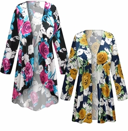 SALE! Customizable Plus Size Roses Slinky Print Jackets & Dusters - Sizes Lg XL 1x 2x 3x 4x 5x 6x 7x 8x 9x