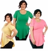CLEARANCE SALE! Plus Size Pink Green or Yellow Cold Shoulder Skater Top 4x 6x
