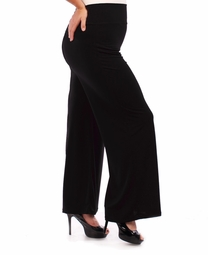 NEW! Plus Size Black Wide Leg Stretchy Slinky Palazzo Pants 5x 6x
