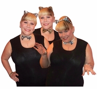 SALE! Kitty Cat Plush Halloween Animal Costume Accessory Kit - Ears, BowTie & Tail