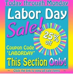 <center><b><font size=5 color=red>LABOR DAY SALE!! 2013</b></font><br>
