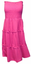 SOLD OUT! LAST ONE! Pretty Pink Tube Top Cover Up Mini Plus Size Dress 4x