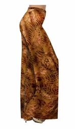 SOLD OUT! Lightweight Brown & Tan Slinky Print Special Order Customizable Plus Size & Supersize Pants, Capri's, Palazzos or Skirts! Lg to 9x