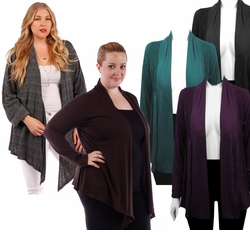 SALE! Lightweight Rayon/Lycra Blend Brown Purple Gray Teal Plus Size Jackets 4x 5x 6x