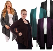 SALE! Lightweight Rayon/Lycra Blend Brown Purple Gray Teal Plus Size Jackets 4x 5x