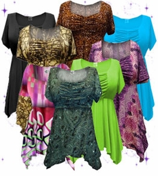 Lightweight Stretchy Cute & Casual Tee's & Babydoll Tops 1x 2x 3x 4x 5x 6x 7x 8x
