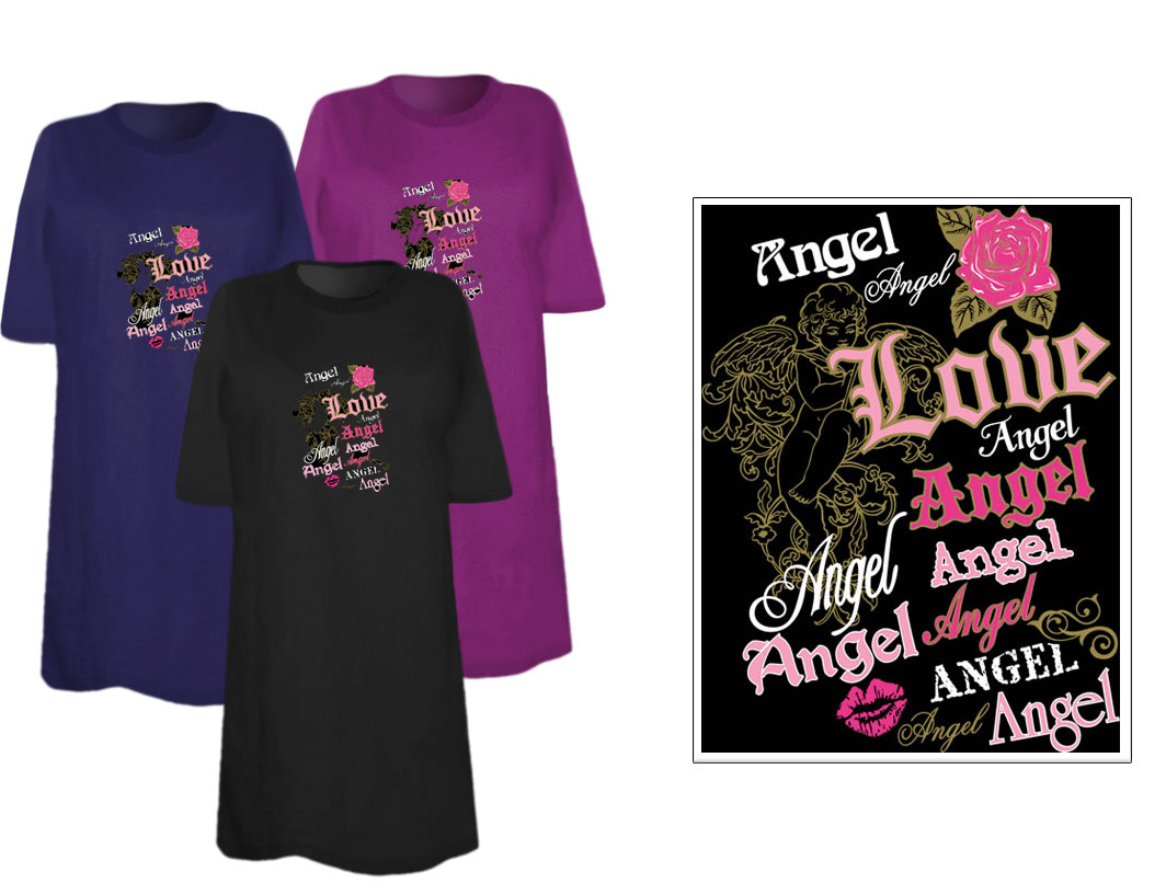 Sale Love And Angels Plus Size Supersize T Shirts S M L