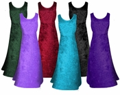 CLEARANCE! MANY COLORS! Crush Velvet Princess Cut Tank Plus Size Supersize Dresses 2x 3x 4x