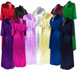 SALE!  Plus Size Cotton or Satin Robes - Beautiful Lightweight Satin or Comfy Cotton Customizable Black Blue Green Red Purple Gold White Burgundy 0x 1x 2x 3x 4x 5x 6x 7x 8x 9x