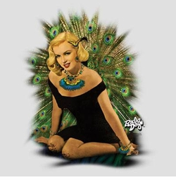 SALE! Marilyn Monroe Peacock Dress Plus Size & Supersize T-Shirts S M L XL 2xl 3xl 4x 5x 6x 7x 8x (Lights Only)