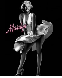 SALE! Marilyn Monroe White Dress Plus Size & Supersize T-Shirts  S M L XL 2x 3x 4x 5x 6x 7x 8x (All Colors)