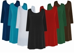 Extra Long Plus Size A-Line or Princess Seam Tunic Style Shirts! Xl 0x 1x 2x 3x or Supersize 4x 5x 6x 7x 8x 9x