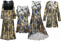 SOLD OUT! Metallic Zebra Slinky Print - Plus Size Slinky Dresses Shirts Jackets Pants Palazzo�s & Skirts - Sizes Lg to 9x