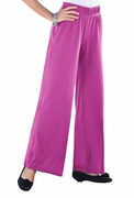 SOLD OUT! SALE! Magenta Soft Knit Wide Leg Palazzo Plus Size Pants 4x