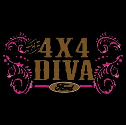 SALE! 4 X 4 Ford Diva Plus Size & Supersize T-Shirts S M L XL 2x 3x 4x 5x 6x 7x 8x (All Colors)