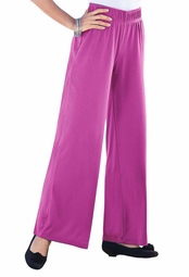 SALE! Magenta Soft Knit Wide Leg Palazzo Plus Size Pants 4x 6x