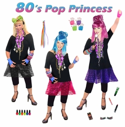 SALE! 80s Plus Size Pop Princess Costume & Accessories! Madonna-Cyndi Lauper-Pat Benatar Supersize Halloween Costume 1x 2x 3x 4x 5x 6x 7x 8x 9x