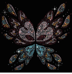 SALE! Abstract Butterfly Wings Rhinestuds Plus Size & Supersize T-Shirts S M L XL 2x 3x 4x 5x 6x 7x 8x (All Colors)