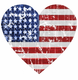 SALE! American Flag Heart Plus Size & Supersize T-Shirts S M L XL 2x 3x 4x 5x 6x 7x 8x 9x (All Colors)
