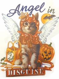 SALE! Angel In Disguise Halloween Kitty Plus Size & Supersize T-Shirts S M L XL 2x 3x 4x 5x 6x 7x 8x (All Colors)