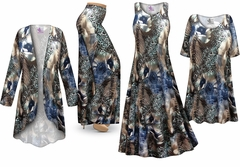 NEW! Animal Medley Slinky Print - Plus Size Slinky Dresses Shirts Jackets Pants Palazzo�s & Skirts - Sizes Lg to 9x