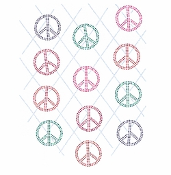 SALE! Argyle Peace Signs Plus Size & Supersize T-Shirts S M L XL 2x 3x 4x 5x 6x 7x 8x 9x (All Colors)