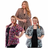 SALE! Lacestyle Floral Printed Cardigan Jacket Plus Size 4x 5x 6x