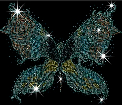 SALE! Big Butterfly Wings Sparkly Rhinestuds Plus Size & Supersize T-Shirts S M L XL 2x 3x 4x 5x 6x 7x 8x (All Colors)