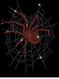 SALE! Red Widow Spider In Web Sparkly Rhinestuds Plus Size & Supersize T-Shirts S M L XL 2x 3x 4x 5x 6x 7x 8x 9x (All Colors)