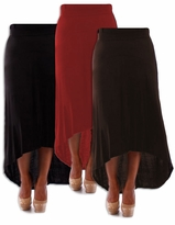 SALE! Black, Brown, or Red Knit Cascade Plus Size Maxi Skirt 4x 5x 6x
