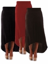 SOLD OUT! Black, Brown, or Red Knit Cascade Plus Size Maxi Skirt